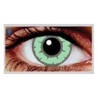 Fancy Dress One Day Halloween Contact Lenses - Green Temptress (1 Pair)