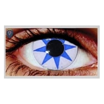 Fancy Dress One Day Halloween Contact Lenses - Pointed Star (1 Pair)