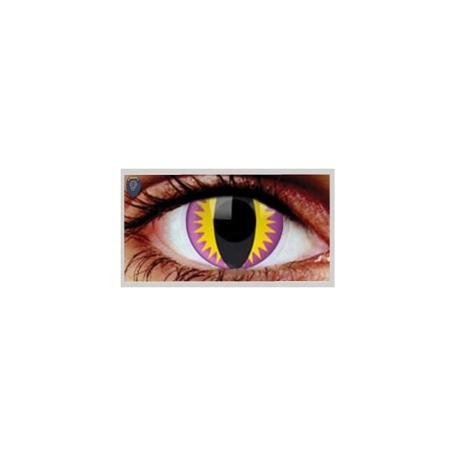 Mesmereyez Xtreme Fancy Dress One Day Halloween Contact Lenses - Purple Kitty (1 Pair)
