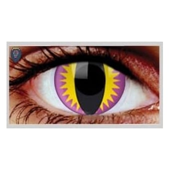Fancy Dress One Day Halloween Contact Lenses - Purple Kitty (1 Pair)