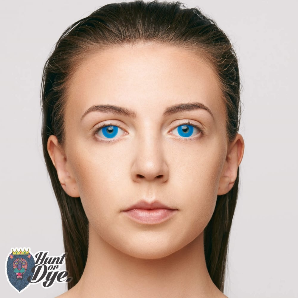 fancy dress one day halloween contact lenses zombie blue 1 pair