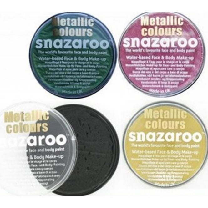 Snazaroo Metallic Colours Face and Body Paint 18ml