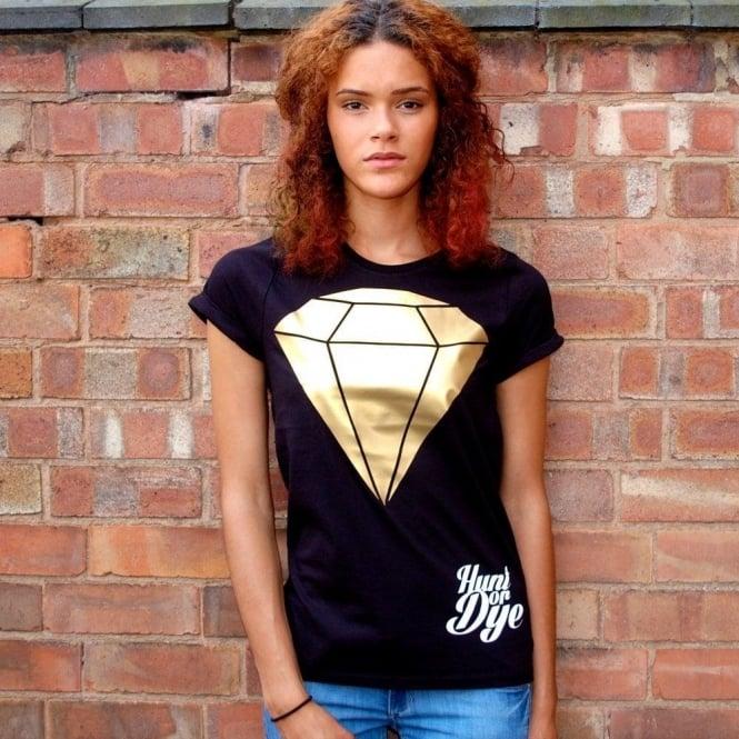 Hunt Or Dye Metallic Diamond Hunt Or Dye Black Ladies T-Shirt