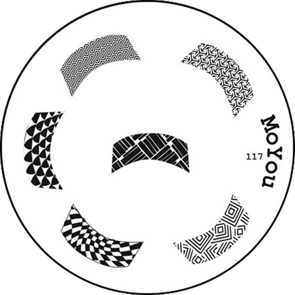 Moyou Stamping Nail Art Image Plate French Manicure Pattern 117