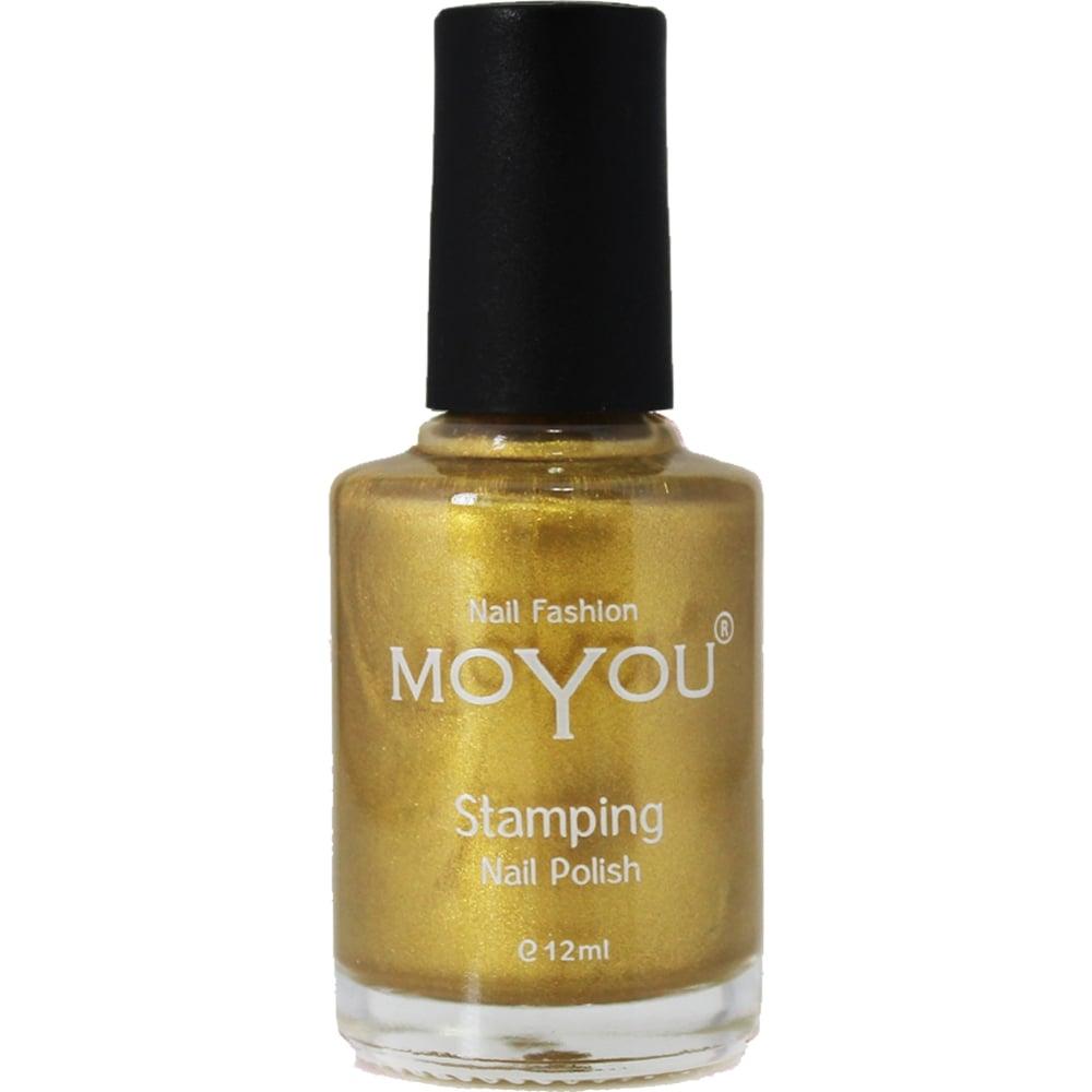 Moyou Stamping Nail Art Special Nail Polish Gold 12ml