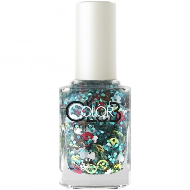 Color Club Nailmoji Holographic Glitter Nail Polish Collection - Bae (05ALS43) 15ml