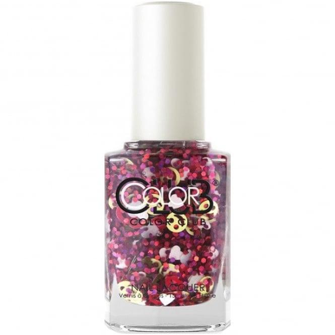 Color Club Nailmoji Holographic Glitter Nail Polish Collection - Hashtag Goal (05ALS40) 15ml