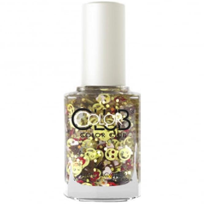Color Club Nailmoji Holographic Glitter Nail Polish Collection - Shade (05ALS41) 15ml