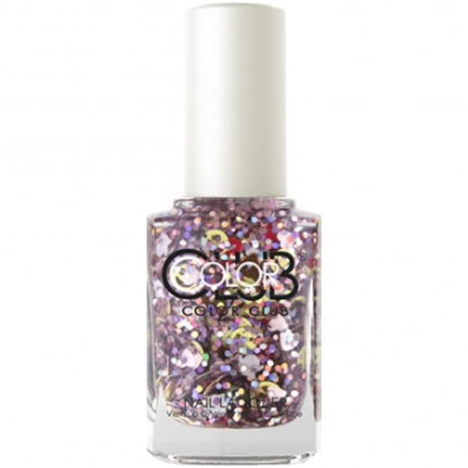 Color Club Nailmoji Holographic Glitter Nail Polish Collection - Vibes (05ALS39) 15ml