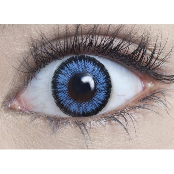 MesmerEyez Natural 1 Day Coloured Contact Lenses - Real Blue - Illusionz (1 Pair)