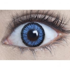 Natural 1 Day Coloured Contact Lenses - Real Blue - Illusionz (1 Pair)