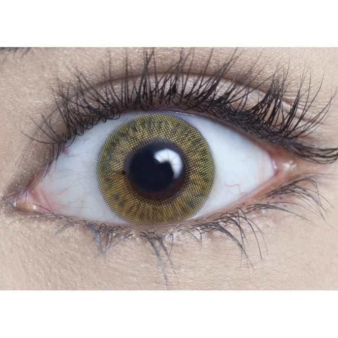 MesmerEyez Natural Coloured Contact Lenses Blendz - Light Hazel (Usage:1,3,12 Months - 1 Pair)