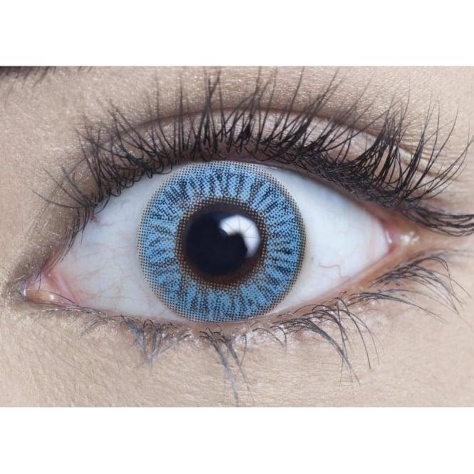 MesmerEyez Natural Coloured Contact Lenses Blendz - Sapphire Blue (Usage:1,3,12 Months - 1 Pair)