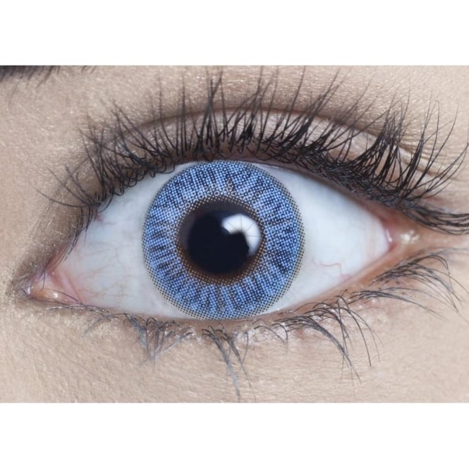 MesmerEyez Natural Coloured Contact Lenses Blendz - Topaz Blue (Usage:1,3,12 Months - 1 Pair)