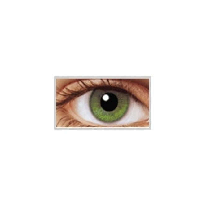 MesmerEyez Natural Coloured Contact Lenses Illusionz - Coral Green (Usage:1,3,12 Months - 1 Pair)
