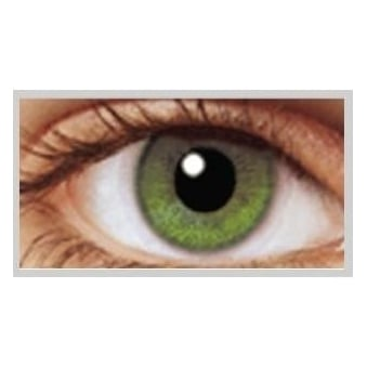 Natural Coloured Contact Lenses Illusionz - Coral Green (Usage:1,3,12 Months - 1 Pair)