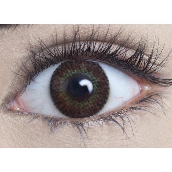 MesmerEyez Natural Coloured Contact Lenses Infusionz - Yellow Oak (Usage:1,3,12 Months - 1 Pair)