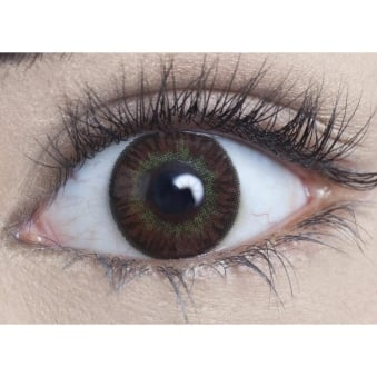 Natural Coloured Contact Lenses Infusionz - Yellow Oak (Usage:1,3,12 Months - 1 Pair)
