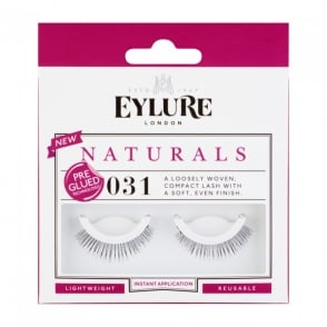 Naturals - No 031 Reusable Soft Compact Eyelashes - Pre Glued (Instant Application)