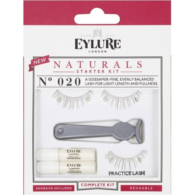 Eylure Naturals Strip Lashes Starter Kit Complete Set - (No.20)