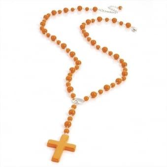 Neon Rosary Beads - Neon Orange