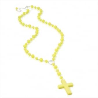 Neon Rosary Beads - Neon Yellow