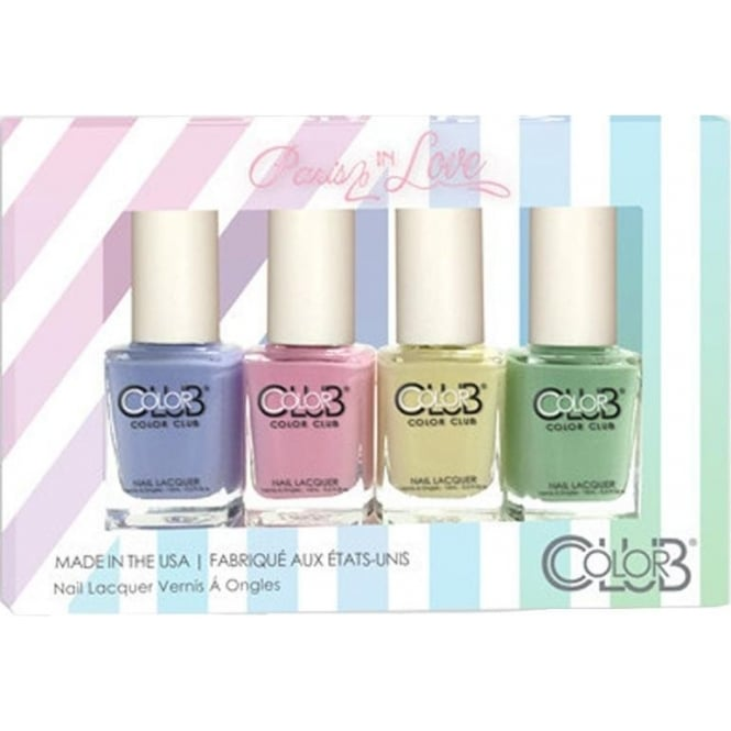 Color Club Paris In Love Nail Polish Collection - 4 Piece Mini Gift Set (4x 7mL)