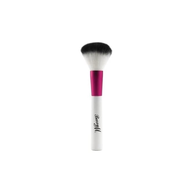 Barry M Pink and White Synthetic Powder Brush