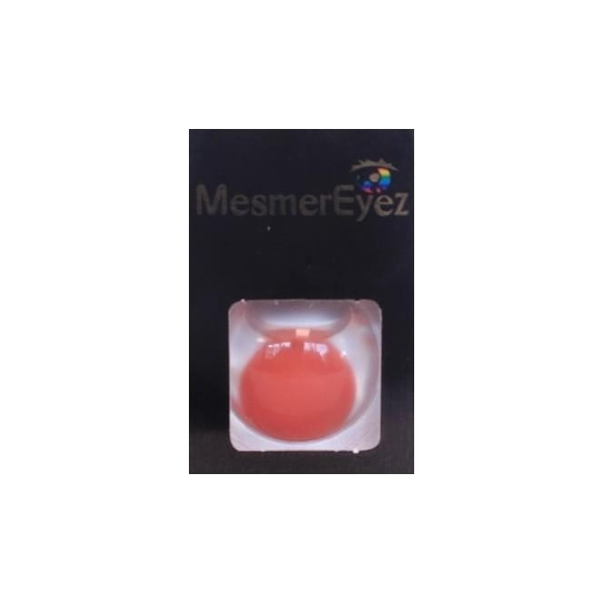 Mesmereyez - Hunt Or Dye Red Blind Contact Lenses - 1 Day / Use Fancy Dress Accessories - Red Blind