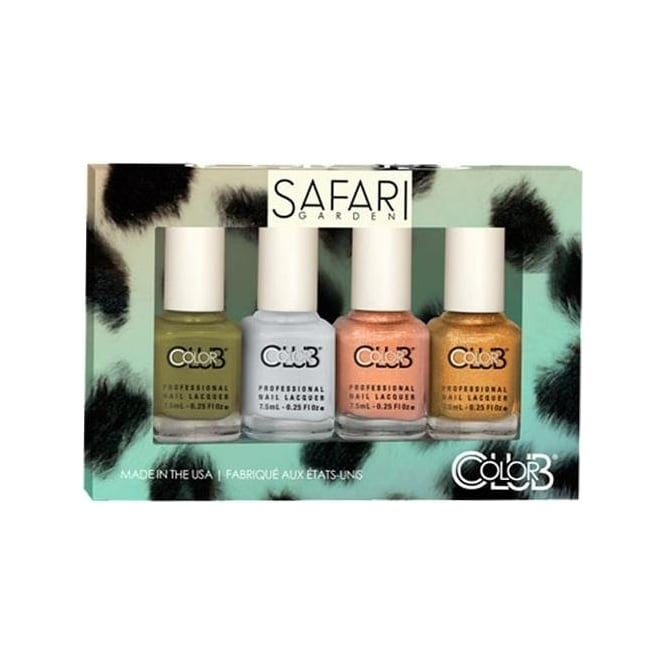 Color Club Safari Garden Nail Polish Collection - 4 Piece Mini Gift Set (4x 7mL)