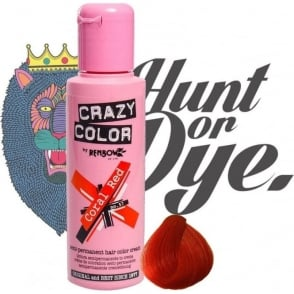 Semi Permanent Hair Dye - Coral Red