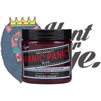 Semi Permanent Hair Dye - Fuschia Shock - Comes With Free Tint Brush