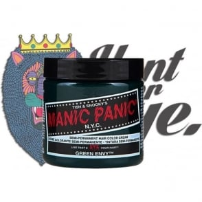 Semi Permanent Hair Dye - Green Envy - Comes With Free Tint Brush