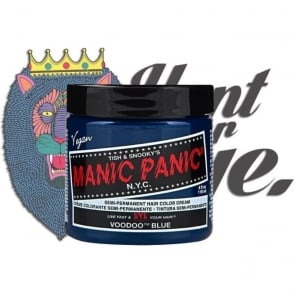 Semi Permanent Hair Dye - Voodoo Blue - Comes With Free Tint Brush