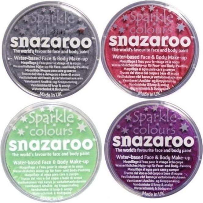 Snazaroo Sparkle Colours Face and Body Paint 18ml
