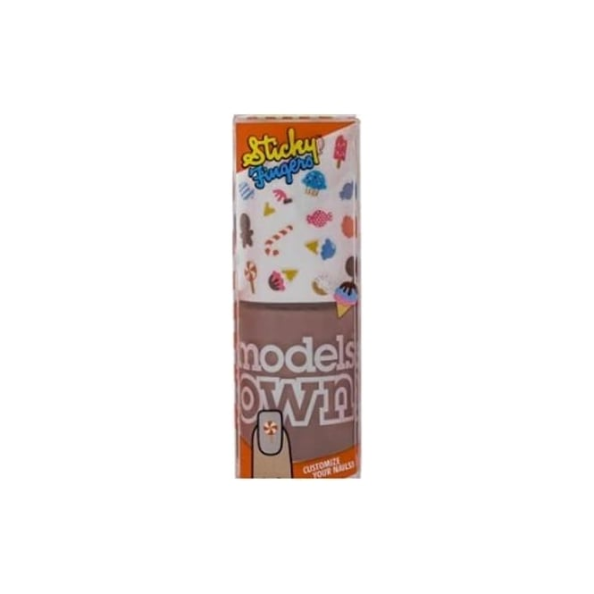 Models Own Sticky Fingers Nail Polish (Stickers included!) - Nude Beige Sweet Candy 14ml
