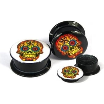 Sugar Skull Ear Plug (8mm)