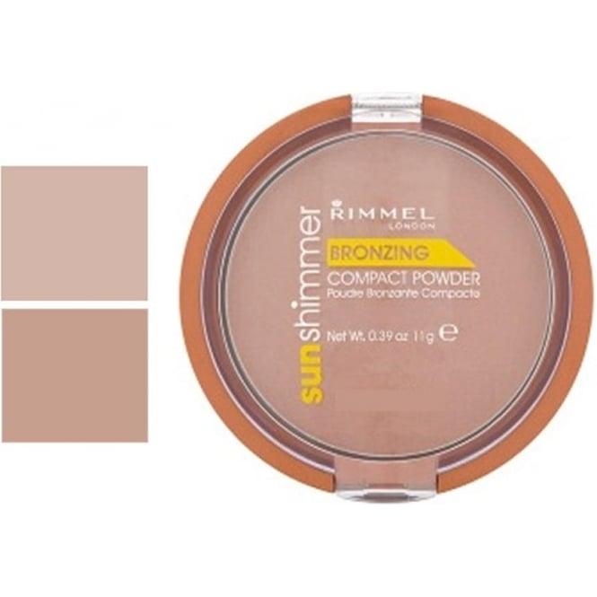 Rimmel Sunshimmer Bronzing Compact Powder (Matte) 11g