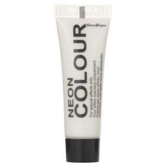 Temporary Neon Colour Face & Body Paint - White 10ml
