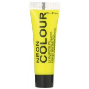 Temporary Neon Colour Face & Body Paint - Yellow 10ml