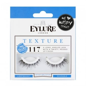 Texture No 117 Reusable Textured Finish Eyelashes Pre Glued (Instant Application)