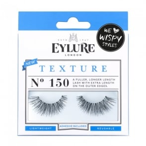 Texture No 150 Reusable Longer Length Eyelashes (Adhesive Included)