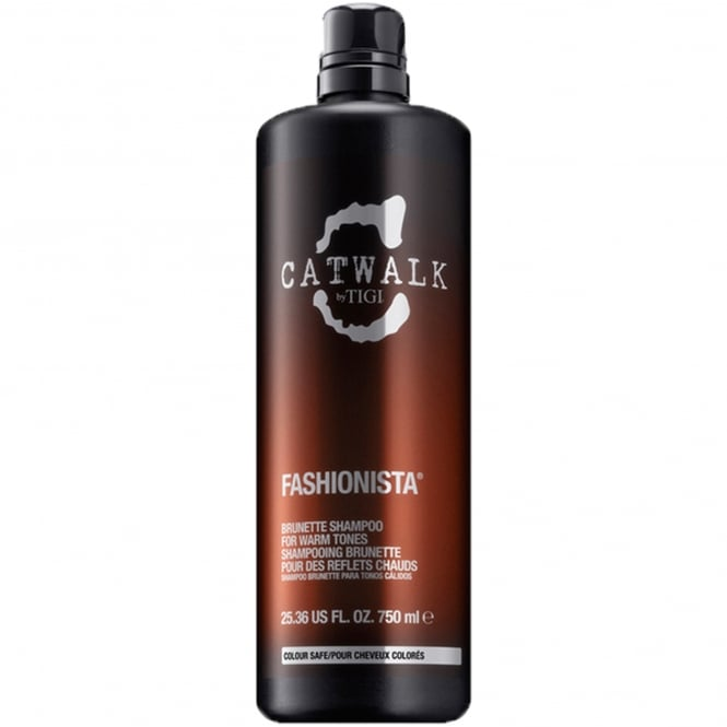 Tigi Catwalk - Fashionista Brunette Shampoo For Warm Tones 750ml