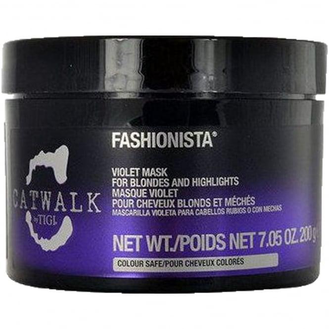 Tigi Catwalk - Fashionista Violet Mask For Blondes And Highlights 200g