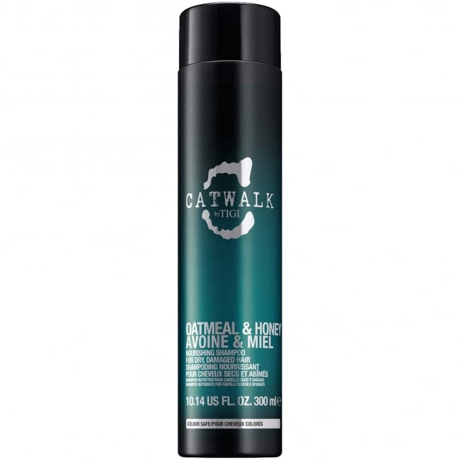 Tigi Catwalk - Oatmeal & Honey Nourishing Shampoo for Dry, Damaged Hair 300ml.