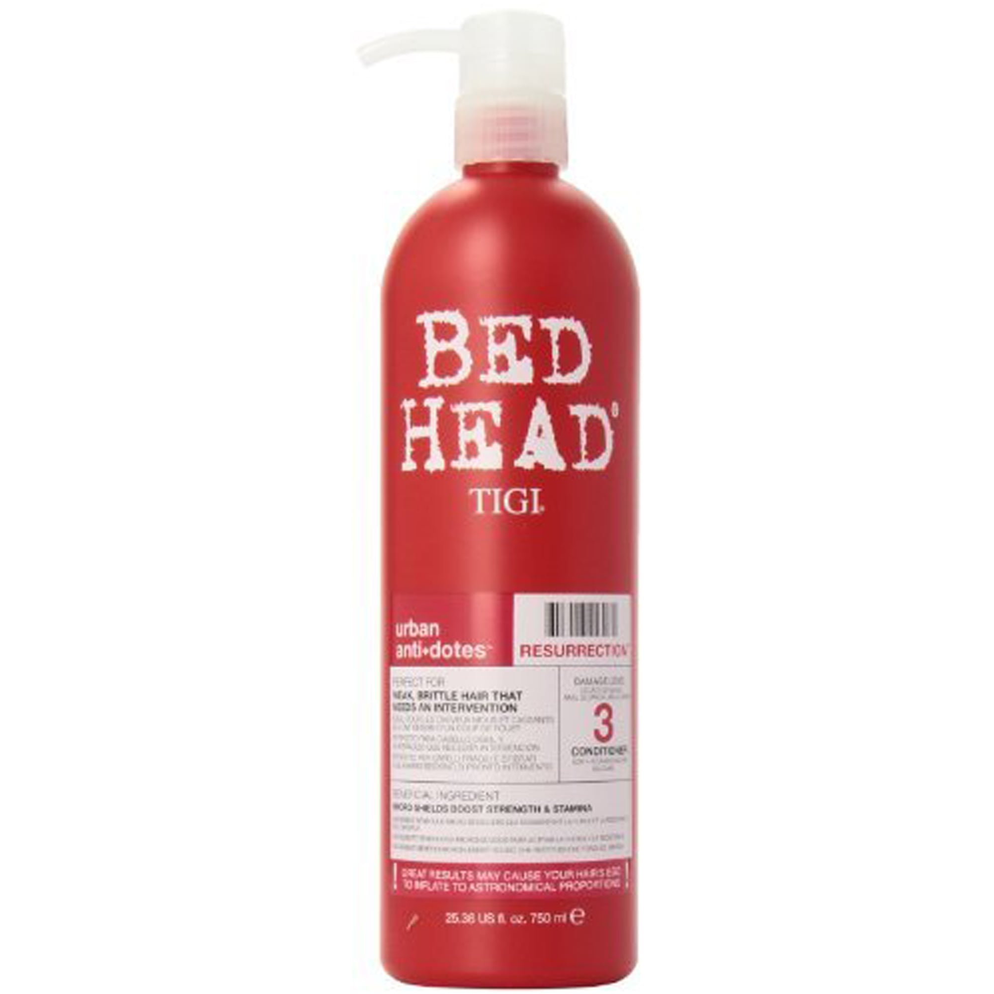 tigi bed head urban antidotes resurrection conditioner damage level 3 750ml. Black Bedroom Furniture Sets. Home Design Ideas