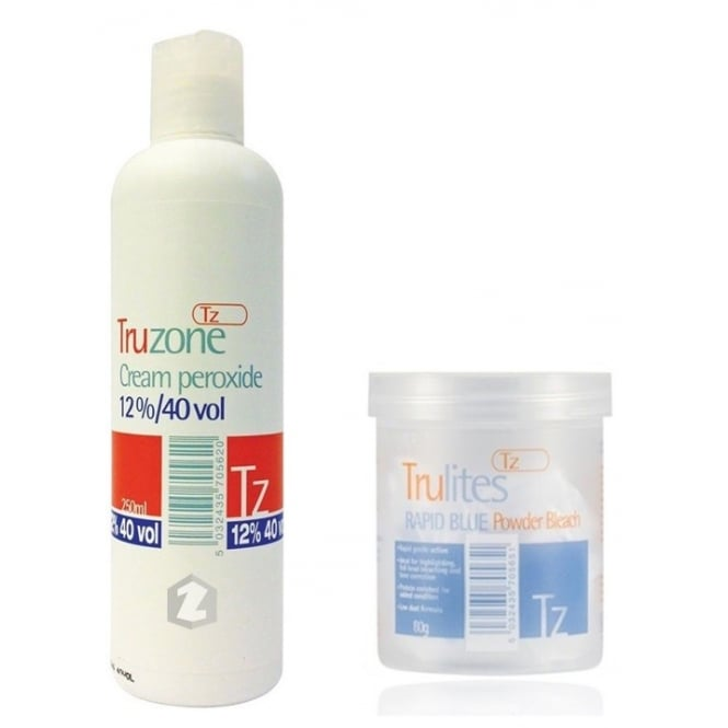 Truzone Trulites Rapid Blue Powder Bleach (80g) & 12%/40 Cream Peroxide