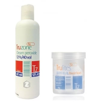 Trulites Rapid Blue Powder Bleach (80g) & 12%/40 Cream Peroxide