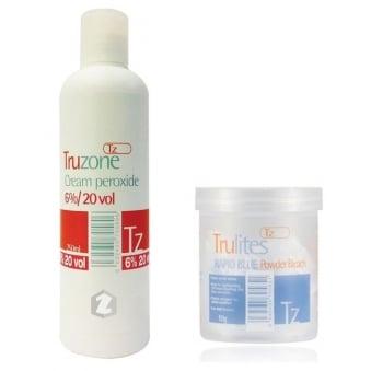Trulites Rapid Blue Powder Bleach (80g) & 6%/20vol Cream Peroxide