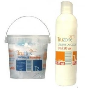 Truzone - Trulites Rapid Blue 500g Powder Bleach and 6%/20Vol Cream Peroxide set
